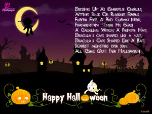 Halloween Poems with Happy Halloween Wishes Cards for Facebook