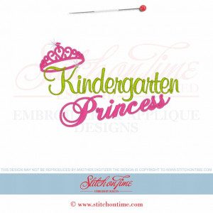 4988 Sayings : Kindergarten Princess 5x7