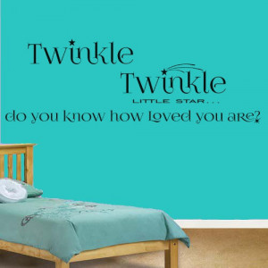 Twinkle Twinkle Little Star Quote Vinyl Wall Art Sticker Decal ...