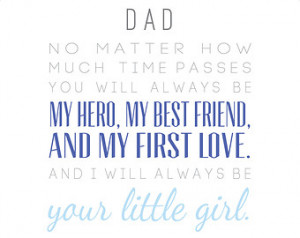 ... First Love, Little Girl / From Daughter / Dad Quote / Grey Blue Navy