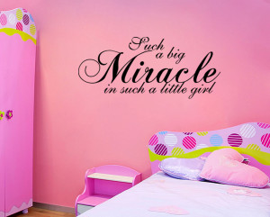 Miracle-Little-Girl-Wall-Quote-Nursery-Baby-Vinyl-Wall-quote-Decal ...
