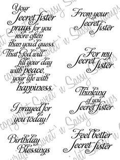 Christian Secret Sister Gifts | Secret Sister Sentiments Digital Stamp ...