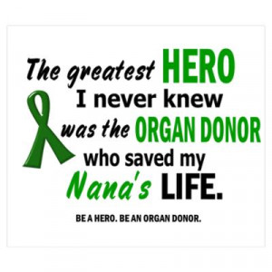 BE A HERO. BE AN ORGAN DONOR. Poster