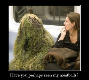 Funny Pasta Man Picture - Have you perhaps seen my meatballs?
