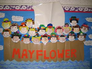 Mayflower bulletin board from Adventures of a Future Teacher