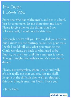 Poem: My Dear, I Love You