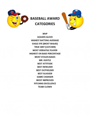 ... Parties, Parties Ideas, Baseball'S Softball, Softball Award Ideas