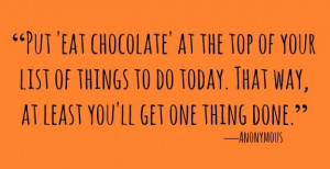 Best Chocolate Quotes All Time