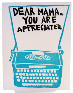 dear mama you are appreciated // mothers day card by foreignspell ...