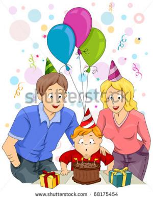 Family Celebrating Birthday...