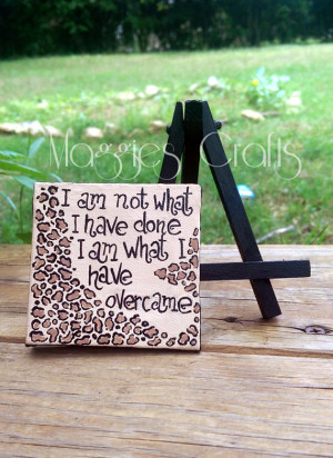 leopard print quotes inspirational quotes mini canvas and easel gift ...