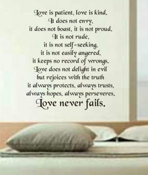 Love is Patient Love is Kind wall decal sticker vi