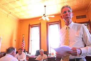 Cibolo Creek Ranch owner John Poindexter at Wednesday s meeting of