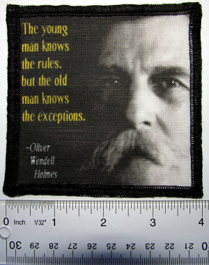 Details about Oliver Wendell Holmes QUOTE - Printed Patch - Sew On ...