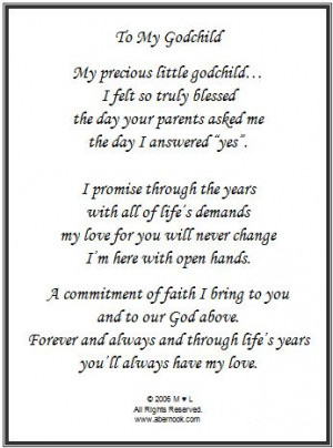 goddaughter gifts ebay wedding gift for goddaughter poetry goddaughter ...