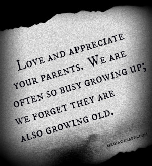 ... growing up: we forget they are also growing old. Source: http://www
