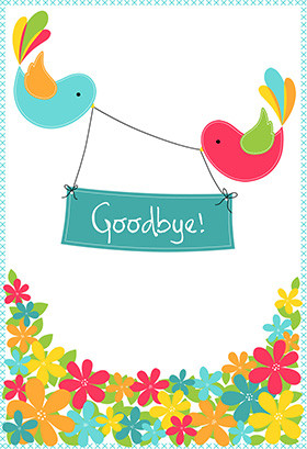 Printable Good luck Greeting Card - Goodbye from Your Colleagues