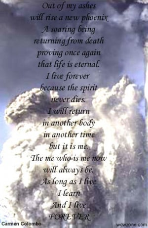 phoenix out of my ashes will rise a new phoenix a soaring being ...