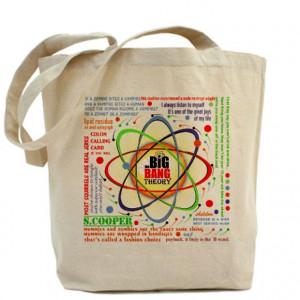 ... > Big Bang Theory Bags & Totes > Big Bang Theory New Quotes Tote Bag