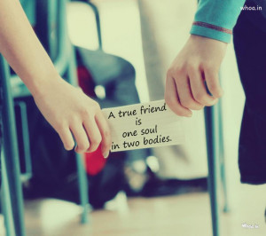 True Friend Friendship Day Quote In Couples Hand Love Image Photo