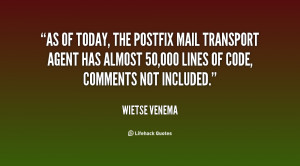As of today, the Postfix mail transport agent has almost 50,000 lines ...