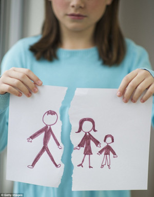 Unfair: Bitter mothers sometimes force their child to cut their father ...