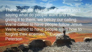 Message Eugene Peterson Quotes