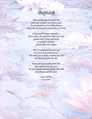 - Poems - Baptism Christian Baptisms Quotes, Heartwarm Baptisms, Lds ...
