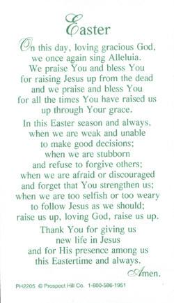 Palm Sunday Easter Prayer