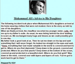 Muhammad Ali's (The Legend Boxer) Advice to His Daughters