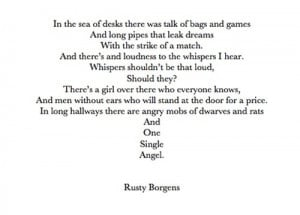 Rusty's poem, Stuck In Love