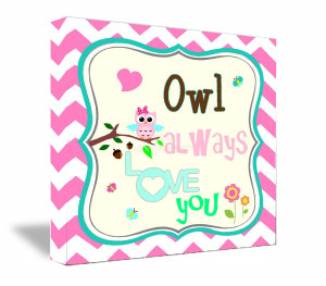 ... Owl always love you cute wall art decorations nursery quotes sayings
