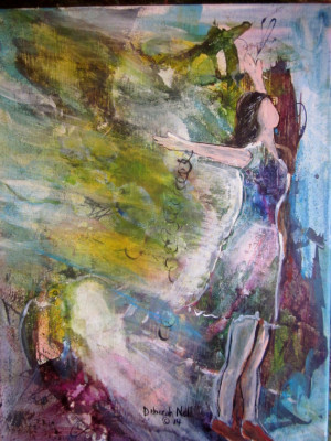 Modern Faceless Spiritual Acrylic Painting