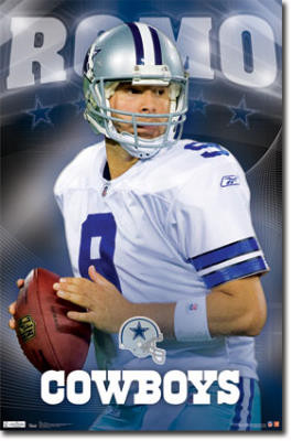 Dallas Cowboys Tony Romo Sports Poster Print - 22x34