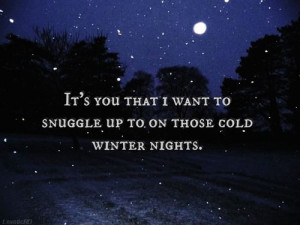 Those cold winter nights
