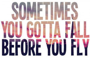 Sometimes You Gotta Fall Before You Fly Quotes