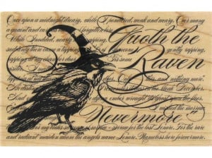 Quote the Raven Nevermore Rubber Stamp