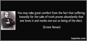 You may take great comfort from the fact that suffering inwardly for ...
