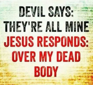 Jesus' death conquered sin and the devil