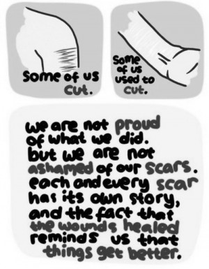 ... depression alone crying cutting cuts self-harm scars depression quotes