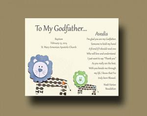 gift for Godfather, Godfather Gift from Godchild - Godfather Baptism ...