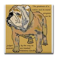 ENGLISH BULLDOG 2 QUOTE TILE Tile Coaster for