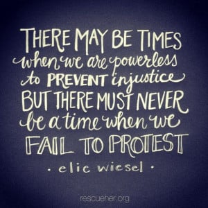 There may be times when we are power;ess to prevent injustice, but ...