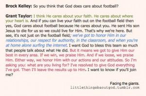 God loves football :)