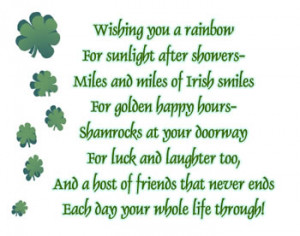 Wish you a rainbow Irish blessing word art