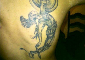 Greek Warrior Tattoo