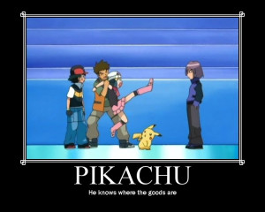 Pikachu looking for the goods