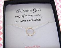 SISTER Necklace, Sisters POEM, Quote about sisters, interlocking ...