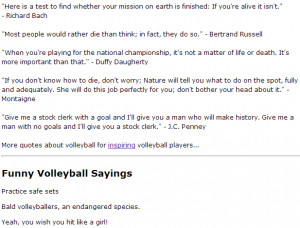 Funny Volleyball Q and A's