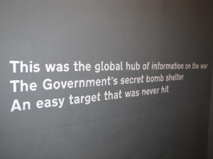 Appropriate quote re Churchill war rooms